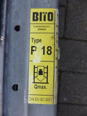 Bito P 18 Palettenregal Regalrahmen Ständer 248x80cm verzinkt – Bild 2