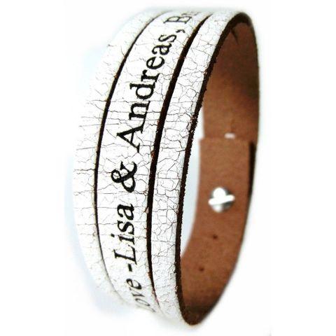 Lederarband Armband Echtleder mit Wunschgravur – Bild 7