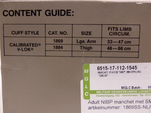 NEU Baumanometer Typ 1869 Blutdruckmanschetten Manschette V-Lok 33-47 cm NO LATEX – Bild 2
