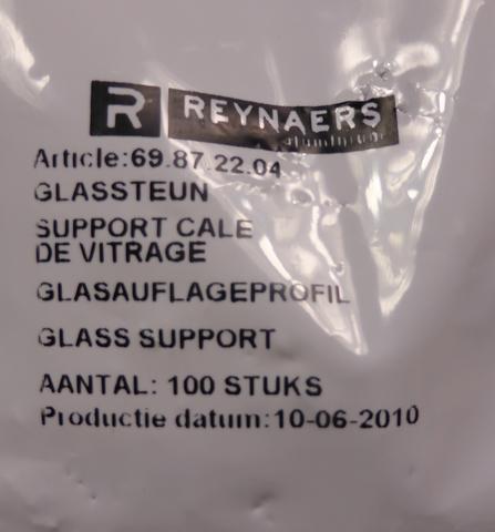 500x Stück Reynaers 69.87.22.04 Glasauflageprofil Glasauflage 69872204 *LP 60 € – Bild 5