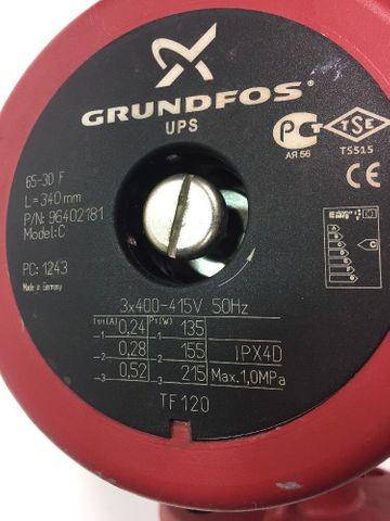 Grundfos Pumpe UPS 65-30F Heizungspumpe 340mm TF 120 Umwälzpumpe 3x400V 96402181 – Bild 3