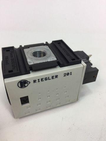 3/2 Wegeventil  Riegler FUTURA G1/4 BG1, elektr. Betätigt 24V 2,5W FU923, 100294 – Bild 2