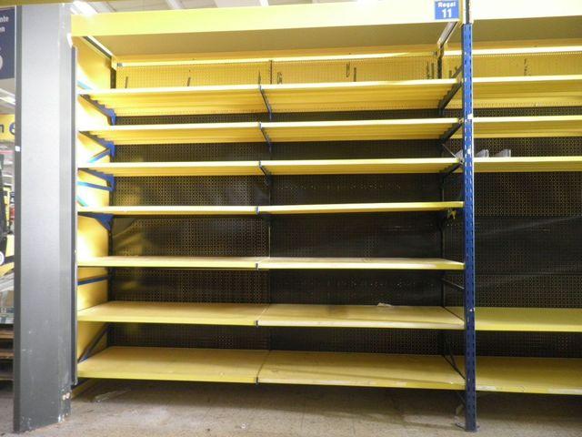 Tegometall Fachboden 125x47cm Stahlfachboden gelb – Bild 1