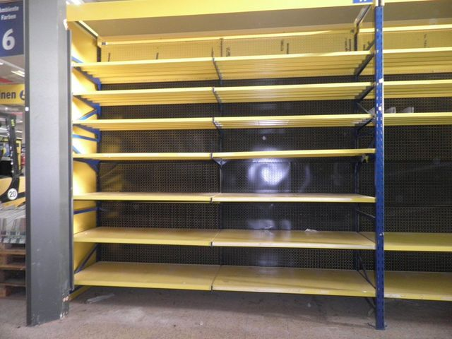 Tegometall Fachboden 133x47cm Stahlfachboden gelb Neu – Bild 1