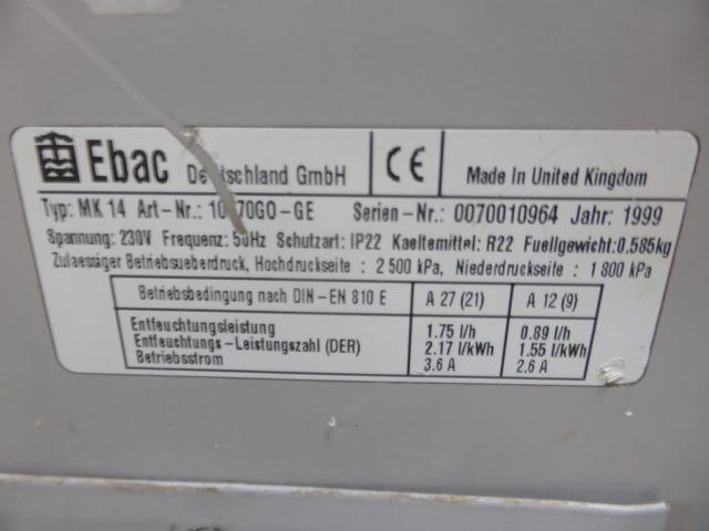 Ebac MK 14 Bautrockner Luftentfeuchter Profigerät 230V – Bild 4