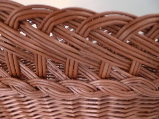 Rattankorb Einkaufskorb Bügelkorb Präsentkorb Flechtkorb Korb Holzkorb 49x30x44 – Bild 5