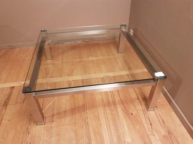 NEU hochwertiger Glastisch Edelstahl 105x105 cm Tisch Select Design 1595 € – Bild 6