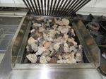 Mareno Kochanlage Doppelfritteuse Gas Lavasteingrill 4-Flammen Gasherd Fritteuse Kochstrecke 005