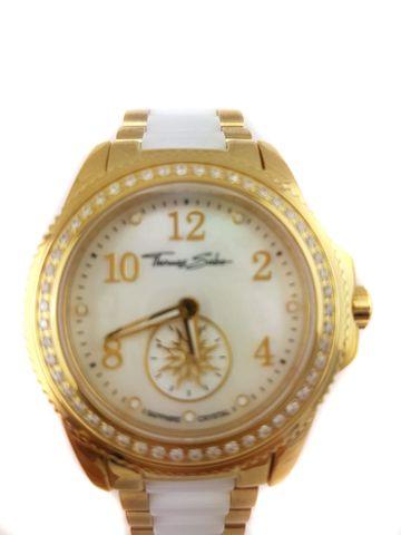 THOMAS SABO WA0161 Damen-Armbanduhr mit Metallband und Keramikteilen NEU edel chic Uhr – Bild 5