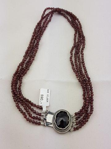 4-reihige GRANATKETTE m. Silber-Granatschließe Kette UVP*590,-❤NEU❤ GESCHENKIDEE – Bild 1