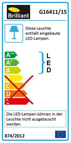BRILLIANT Hajo 1fl. LED-Wandstrahler 3W NEU G16411/15 Wandlampe Spot Strahler – Bild 4