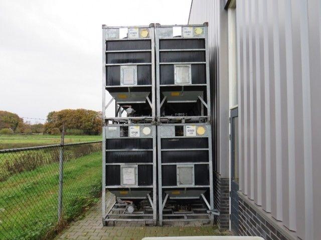 1100 Liter Tank Industrietank Seitenventil Bodenablass verzinkt Bonar TS120-01P – Bild 1