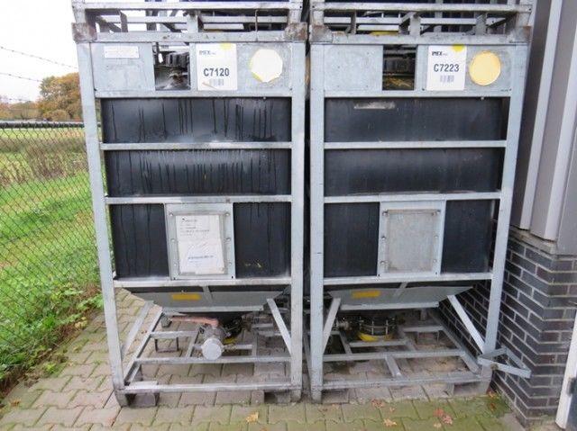 1100 Liter Tank Industrietank Seitenventil Bodenablass verzinkt Bonar TS120-01P – Bild 2