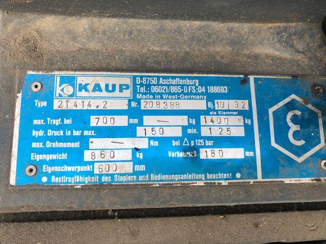 Stapler Ballenklammer Kaup 2T414.2 Traglast 1400Kg Gewicht 860 Kg Staplerzange – Bild 4