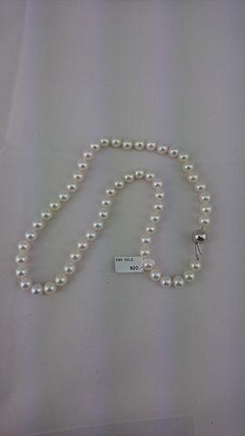Perlenkette m. Gelbgold-Schließe Kette 585er Gelbgold UVP*820,-€ Schmuck ❤ NEU ❤ – Bild 4