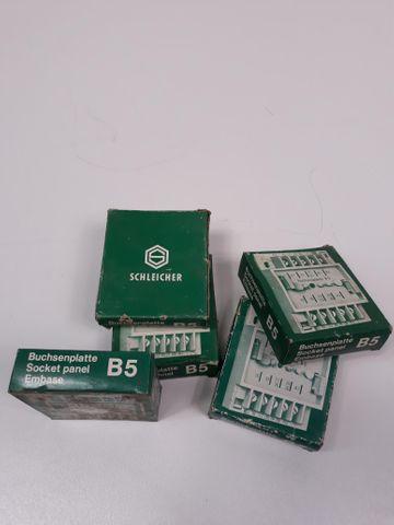 Buchsenplatte B5 Schleicher 5Stück bundle 5Stck Buchse Socket Panel Embase B5 – Bild 1