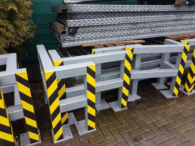 Massiv Anfahrschutz 1,5 m Rammschutzgeländer Geländer Planke verz. 620 € Bügel – Bild 7