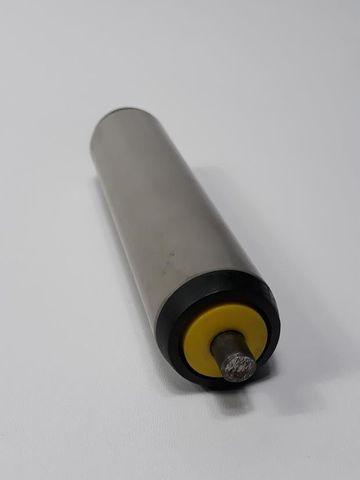 3x Interroll Tragrollen Universalförderrollen Förderrolle PVC Federachse 687mm  – Bild 7