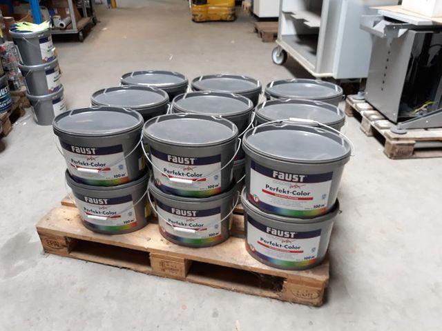 (2,22€/L) Posten 18x FAUST 10 Liter Farbe Wandfarbe Innenfarbe Weiß 1079 € – Bild 4