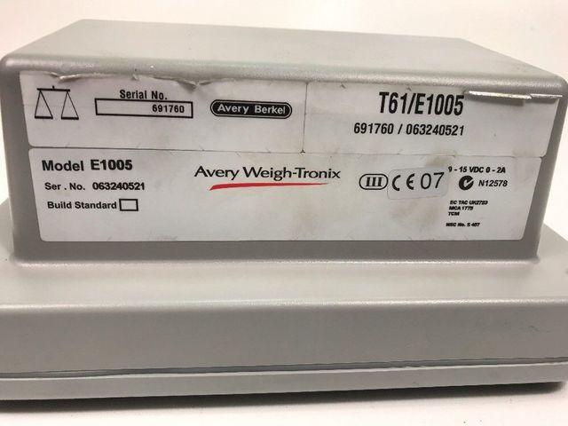 Avery Weight Tronix Model E1005 Waage Wägeeinheit Display Wiegeeinheit 250Kg 0,1 – Bild 7