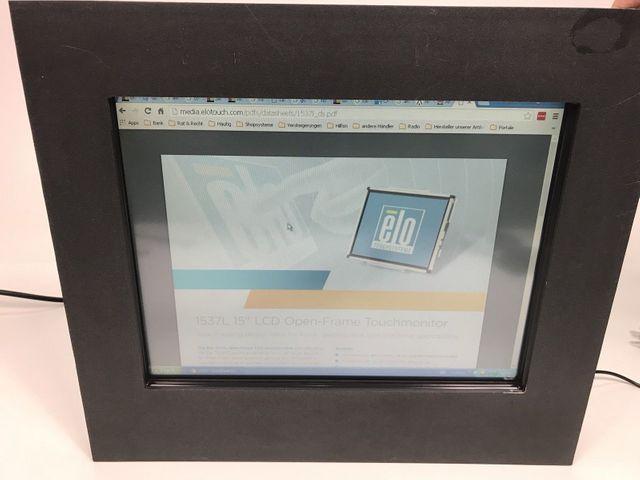 Elo Touch Monitor 15 LCD ET1537L-7CWA-1-NPB-G, E701210 m. Rahmen – Bild 1