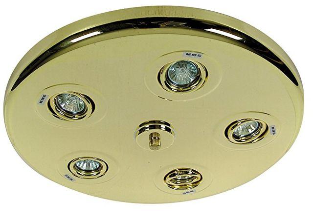 Näve 473045 Halogenrondell Messing 5x 20 Watt Deckenlampe Leuchte Beleuchtung - – Bild 1