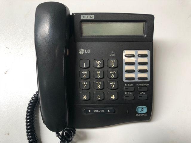 10x LG LKD-8DS Telefon schnurgebunden schwarz mit Display Posten – Bild 2