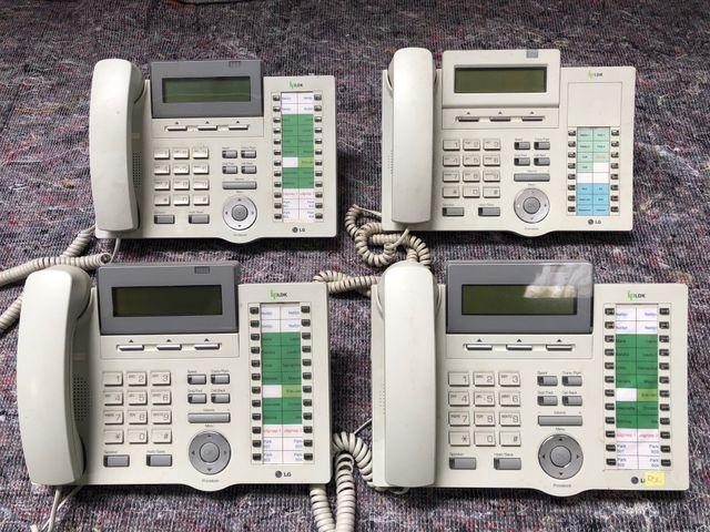 3x LG 7024 + 1x LG 7016 Telefon schnurgebunden mit Display weiß Posten – Bild 1