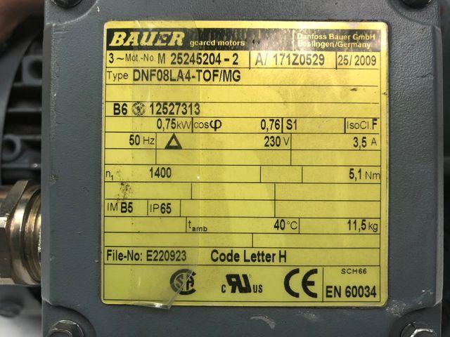 Danfoss Bauer 25245204 Getriebemotor 230V DNF08LA4-TOF/MG Getriebe Motor – Bild 4
