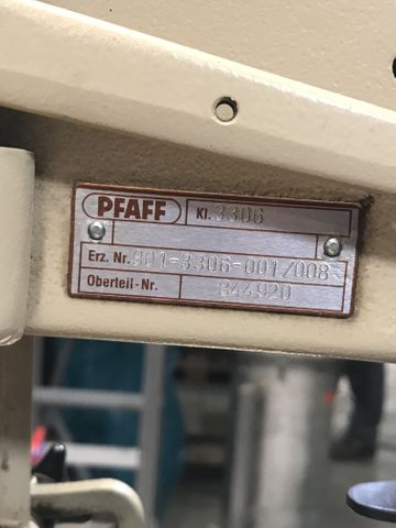 PFAFF 3306 Industrie-Nähmaschine Knopfnähmaschine Knopfannähautomat 4 Loch – Bild 3