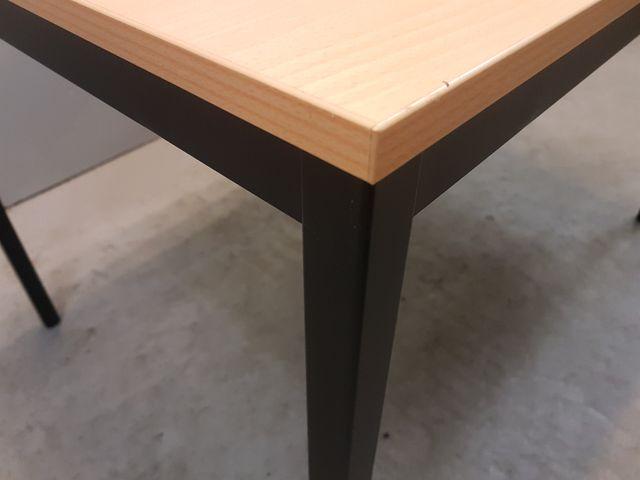 Tisch Buche 120x80x75 cm Metallgestell  Pausentisch Konferrenztisch Schreibtisch – Bild 2
