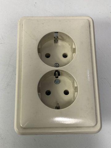 10x PEHA H 80.6412 W SCHUKO-Doppel-Steckdose einteiliger Sockel Standard weiß – Bild 1