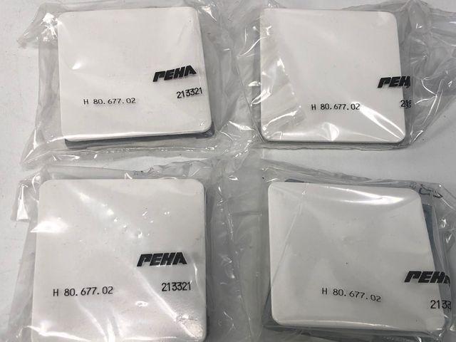 14x PEHA H 80.677.02 Blindverschluss Zentralplatte Standard reinweiß – Bild 3