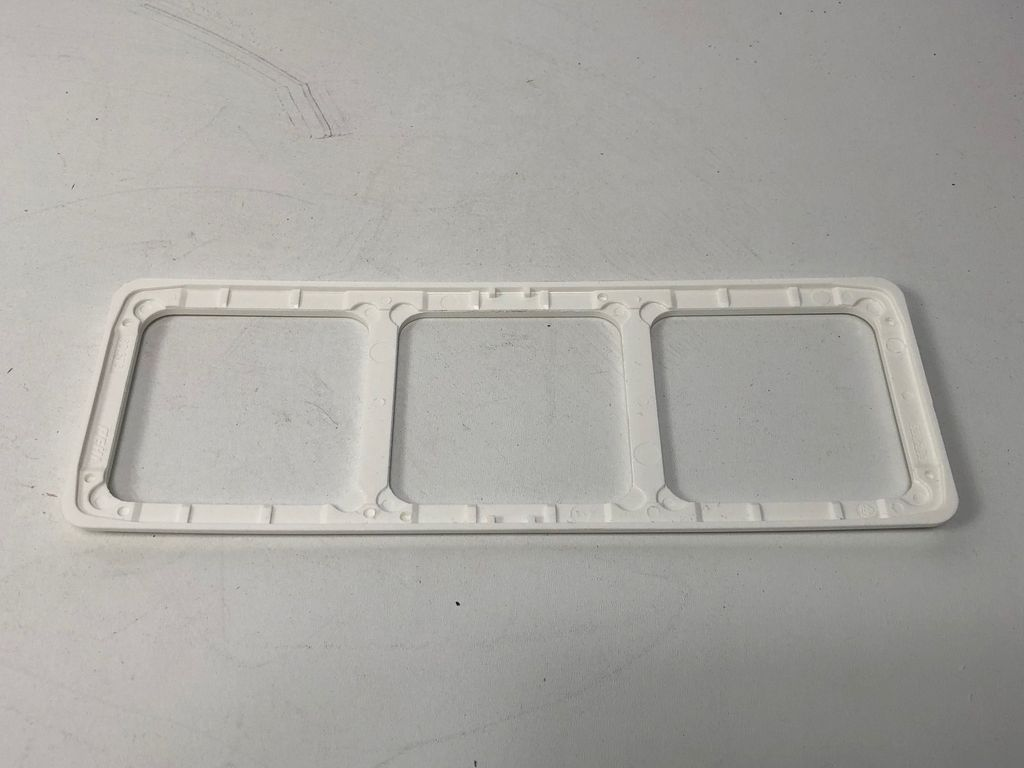 10x PEHA D 80.673 W Kombi-Rahmen 3-fach Standard weiß creme cremeweiß Abdeckung