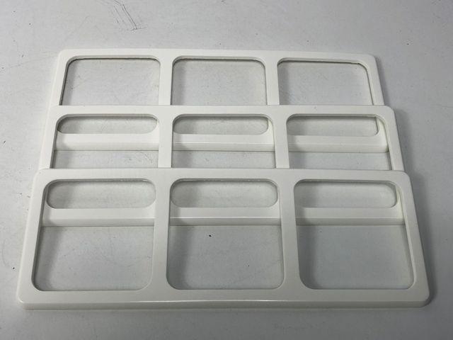 10x PEHA 80.673.02 Kombi-Rahmen 3-fach Rahmen Standard reinweiß – Bild 3
