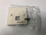 8x PEHA 80.610 AMP W Zentralplatte für 2 AMP Modular Jack Stecker RJ Standard 001