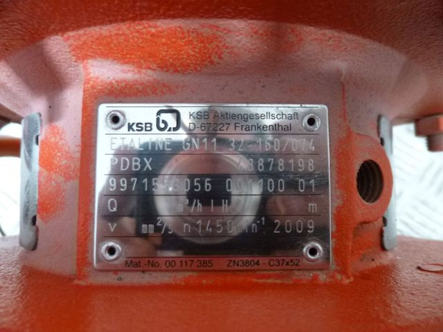 KSB Pumpe Etaline GN 11 032-160/074 Kreiselpumpe Pumpe + Frequenzumrichter – Bild 3