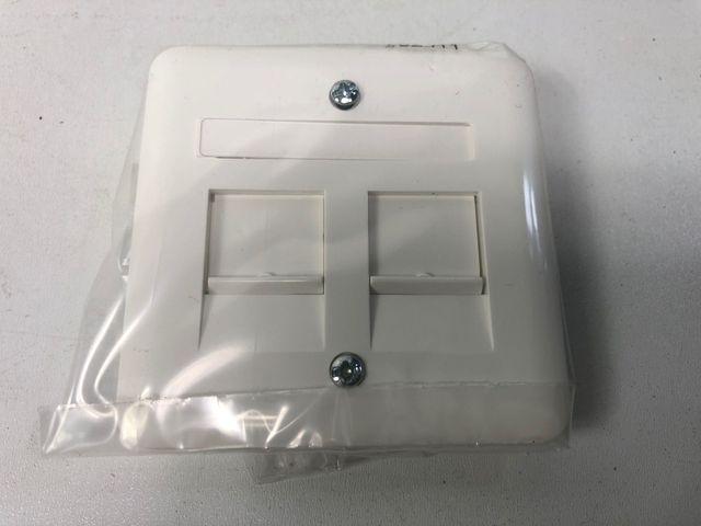 10x PEHA D 80.610.02 Zentralplatte Beschriftungsfeld 2 Verschluss-Schieber – Bild 1