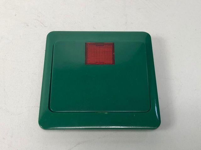 10x PEHA 80.642 N GLK grün Wippe mit Zentralplatte große rote Linse Notschalter – Bild 1