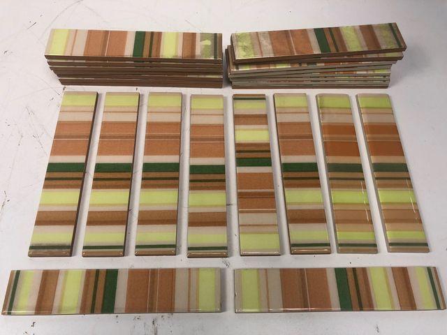27x Fliese Bordüre 250 x 50 mm gestreift mehrfarbig Wandfliese Kachel Wandkachel – Bild 2
