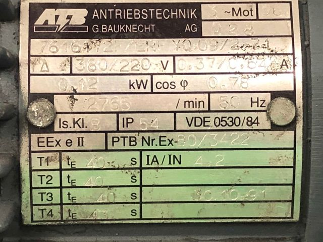 Radialventilator 18 RU 110 M-23-Ex Kleinradialventilator Absaugung Gebläse – Bild 6