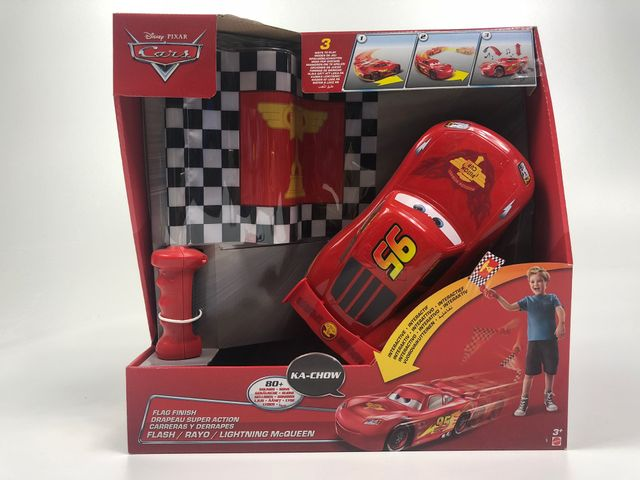 Mattel Disney Cars DPL07 Lightning Mc Queen Flaggen-Rennen Pixar – Bild 1