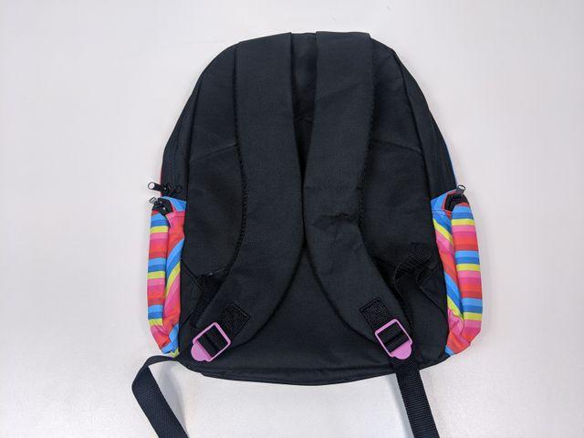 Wooloo Mooloo Kinder Rucksack farbige Streifen Kindergarten Schulrucksack – Bild 2