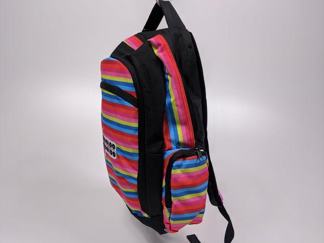 Wooloo Mooloo Kinder Rucksack farbige Streifen Kindergarten Schulrucksack – Bild 5
