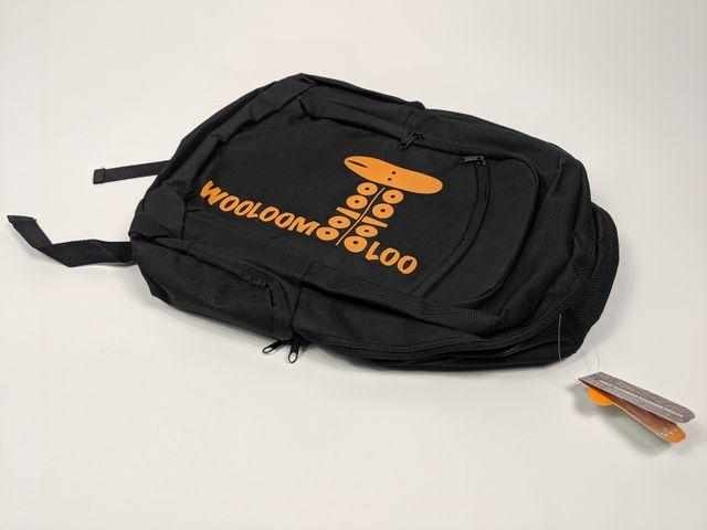 Wooloo Mooloo Kinder Rucksack schwarz/orange Kindergarten Schulrucksack – Bild 3