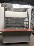 Las Vegas Bedientheke Kühltheke Außentheke Granit 174 x 110 x 90 cm mit Aggregat 001