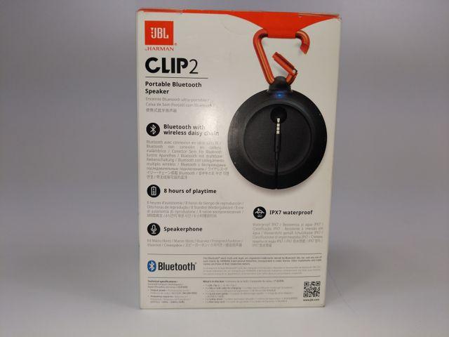 JBL Clip 2 Tragbarer Bluetooth Lautsprecher Box IPX7 Wasserschutz Musik Schwarz – Bild 2