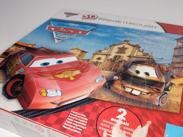 3D Puzzle Disney Pixar Breakthrough Cars 2 Mega Brands 250 Teile 50671 Level 2 – Bild 3