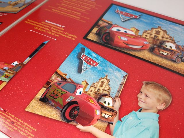 3D Puzzle Disney Pixar Breakthrough Cars 2 Mega Brands 250 Teile 50671 Level 2 – Bild 4