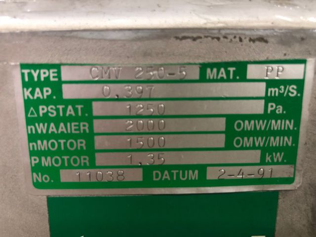 Radialventilator CMV 250-5 Absauganlage Absaugung Gebläse Exhaust Elektromotor – Bild 5